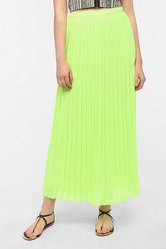 Sparkle & Fade Pleated Chiffon Maxi Skirt