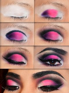 #dramatic #pink and black #Eyeshadow #makeup