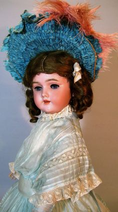 Mint Handwerck Halbig Antique German Doll, Factory Original ~ so HTF from victoriasdollhouse on Ruby Lane