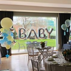 Baby Shower #balloons #babyyellow