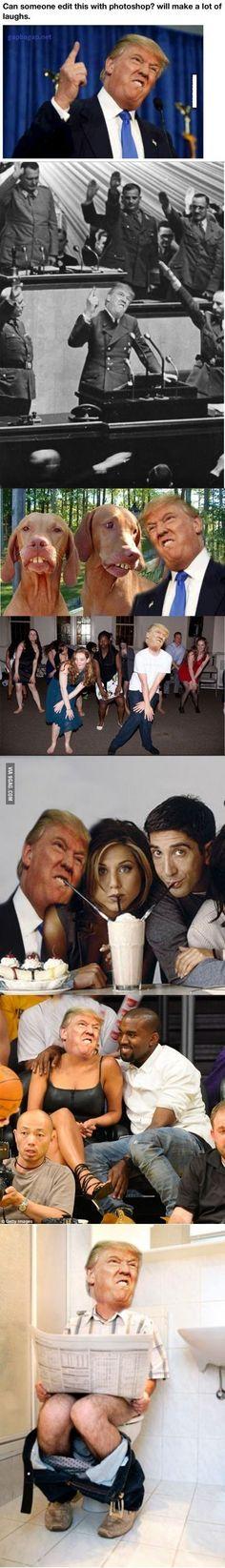 That last pic was sooo offensive because trump goes to the bathroom unlike meeeeee
