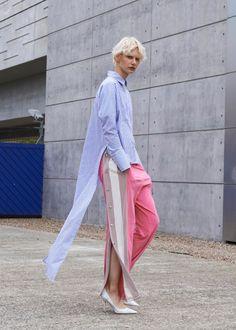 Vinti Andrews - Long Tail Stripe Shirt