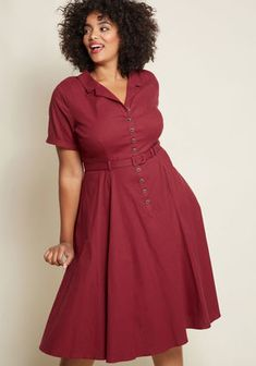 96c98597ce79 Collectif x MC Cherished Era Shirt Dress in Burgundy Orange Dress Shirt