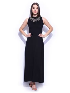 49b5acd8133af Buy Miss Chase Black Maxi Dress - - Apparel for Women from Miss Chase at Rs
