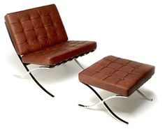 The Barcelona Chair was created by Ludwig Mies van der Rohe for the German Pavilion at the 1929 Barcelona Exposition