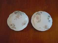 Vintage Haviland Pink Flower Butter Pat Plates Dishes by panther85, $14.25