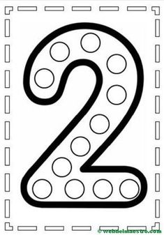 do a dot number 2 Preschool Learning Activities, Preschool Lessons, Preschool Worksheets, Toddler Activities, Preschool Activities, Kids Learning, Kindergarten Math, Numbers Preschool, Learning Numbers