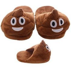 13.44$  Buy now - http://virsa.justgood.pw/vig/item.php?t=t5wxuf32166 - Poop Open Back Emotive Pair of Unisex Slippers ~ One Size