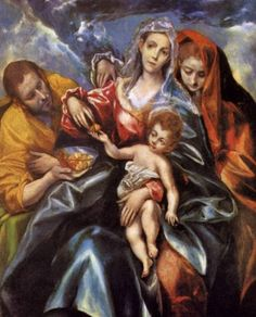 El Greco The Holy Family with St Mary Magdalen, , Museum of Art, Cleveland. Read more about the symbolism and interpretation of The Holy Family with St Mary Magdalen by El Greco. Catholic Art, Religious Art, Michelangelo, Jesus E Maria, Art Du Monde, Renaissance Kunst, Most Famous Paintings, Art Gallery, Cleveland Museum Of Art
