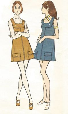 Vintage 70s Vogue Sewing Pattern 7858 Womens Mini by CloesCloset