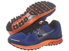 NIKE AIR PEGASUS+ 28 MENS 443805-408 Blue Orange Running Athletic Shoes Size 7.5