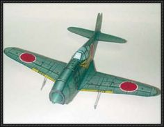 WWII Mitsubishi J2M3 Raiden Fighter Free Aircraft Paper Model Download - http://www.papercraftsquare.com/wwii-mitsubishi-j2m3-raiden-fighter-free-aircraft-paper-model-download.html