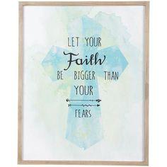 Wall Art - Christian Wall Art - Faith Bigger Than Fear