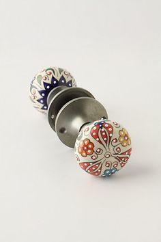 Gardening Indoors Doorknob #anthropologie