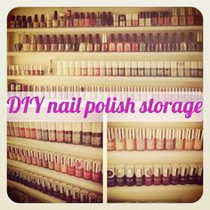 flutter and sparkle: DIY / Tutorial : How to make a nail polish storage unit  Must make one of these...