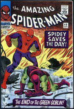 Amazing Spider-Man # 40 , September 1966 , Marvel Comics Vol 1 1963 tumblr_niyso8ZLSp1rn55nzo1_540.jpg (540×797)