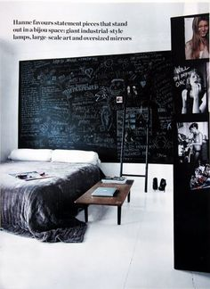 Chalkboard bedroom wall