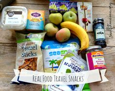 Healthy Real Food Snacks for Air Travel