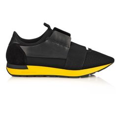 Balenciaga Multi-panel low-top trainers ($645) ❤ liked on Polyvore featuring men's fashion, men's shoes, men's sneakers, black, shoes, mens black sneakers, mens black shoes, balenciaga mens shoes and balenciaga mens sneakers