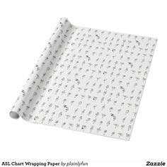 ASL Chart Wrapping Paper