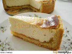 Jemný tvarohový koláč s jablky