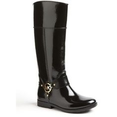 Michael Kors rain boots. i loved them so much that i bought them.... now it just has to rain in sunny cali!!!  lol