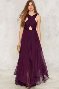 Nasty Gal Collection Purple Reina Maxi Dress | Shop Clothes at Nasty Gal!