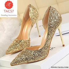 0c65ebafba8f8e Bling Glisten Women Shoes Wedding Party Dress Heels Hollow Shallow Mouth High  Stiletto Trending Accessories Glitter