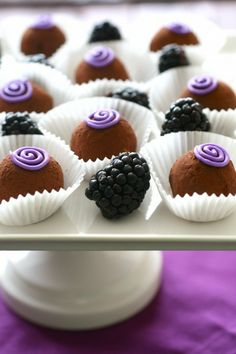 Blackberry Truffles (could substitute strawberry or other preserves)