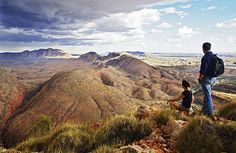 The Larapinta Trail, Australia. One day, son, all those snakes out there will be yours.