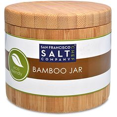 Bamboo Jar (Small 6oz salt jar) San Francisco Salt Company http://www.amazon.com/dp/B00NETJGZE/ref=cm_sw_r_pi_dp_u5Ulvb11Q3T7F