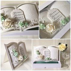 Ladies Gay wedding card boxed and personalised bookatrix