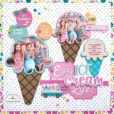 Sweet Summer | Ice-Cream layout using cut files with Virginia