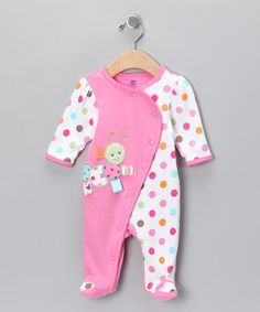 Take a look at this Pink Caterpillar Footie  by Taggies on #zulily today! Wish I could register on zulily!