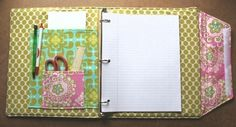 Pretty binder cover. Will definitely make one of these for next year.