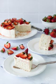 Angel Cake, Muffins, Cheesecake, Desserts, Food, Strawberries, Just Bake, German Recipes, Muffin