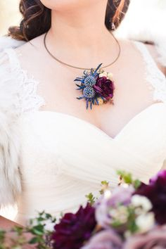 Thistle necklace | Candice Benjamin Photography | see more on: http://burnettsboards.com/2014/04/game-thrones-themed-wedding-2/