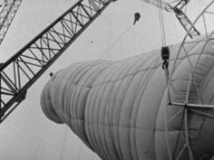 At documenta IV, Kassel, during the summer of 1968, Christo and Jeanne-Claude erect a 85-meter-high package filled with 5,600 cubic meters of air. Courtesy of the…   http://www.christojeanneclaude.net