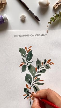 Watercolor Flowers Tutorial, Watercolour Tutorials, Floral Watercolor, Watercolour Step By Step, Watercolor Border, Acrylic Painting Flowers, Watercolor Video, Wreath Watercolor, Flower Paintings