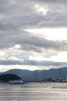 Views of the Seto Inland Sea ,in Hiroshima