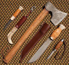 Puukko, Axe, Leuku and Barrel Knife