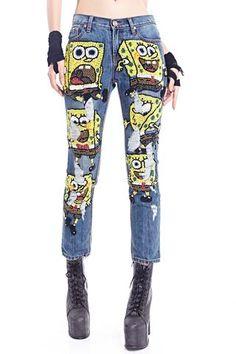 Sponge Bobbed Squared Jeans