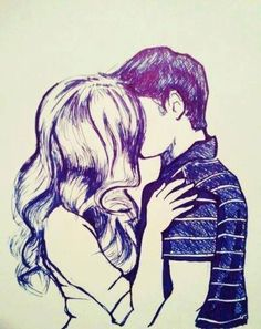 Percabeth? Well, if it wasn't, it is now! ~ Well the boy's hair is too neat to be Percy.