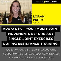 Always put your multi-joint movements before any single-joint exercises during resistance training. #PTtuesday