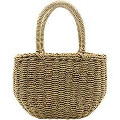 Youndcc Women Woven Straw Bag Rattan Bag Tote Bag Purse Handbag Beach Bag, Handwoven/Handmade/Crochet Hand Bags, Purses And Handbags, Straw Bag, Crochet, Beach, Stuff To Buy, Handbags, Crochet Crop Top, Seaside