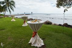 Olowalu Plantation House Maui Wedding Setup by Hawaiian Style Event Rentals / www.hawaiianrents.com