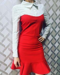 Gömlek elbisemiz 55 TL www.agathree.com DM den iletişime geçebilirsiniz  #agathree #etek #bluz #bahar #yenisezon #indirim #kapidaodeme