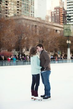 Chicago Ice Skating Engagement: Nicola + Alex » Chicago Wedding Photographer | Ashley Biess Photography
