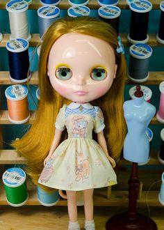 Retro Animals, Dress for Blythe Doll, by Plastic Fashion by PlasticFashion on Etsy