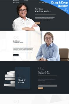 Jack Baker - Writer Moto CMS 3 Template https://www.templatemonster.com/moto-cms-3-templates/publishing-company-responsive-moto-cms-3-template-66507.html